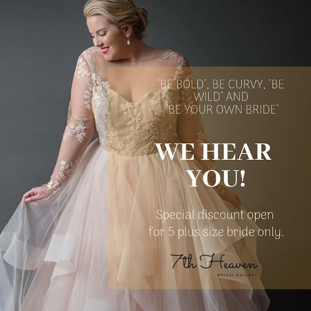 plus size bridal dress KL
