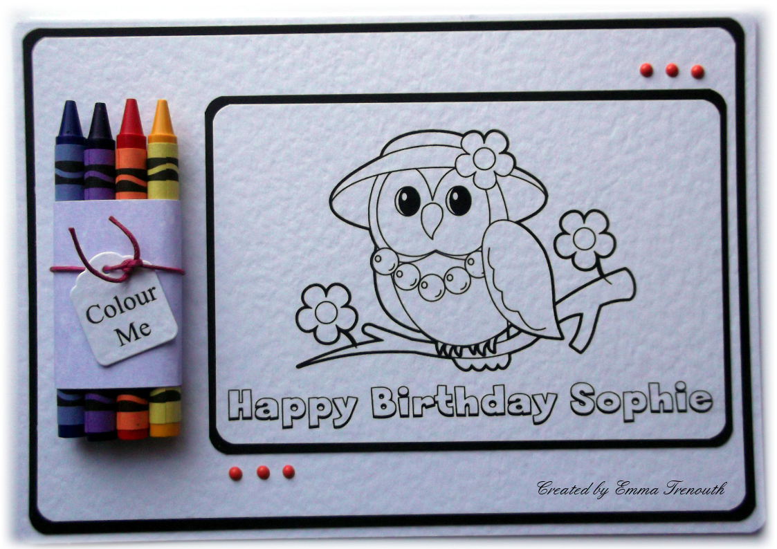 Trenouths Crafty Creations: Children\'s colour in cards