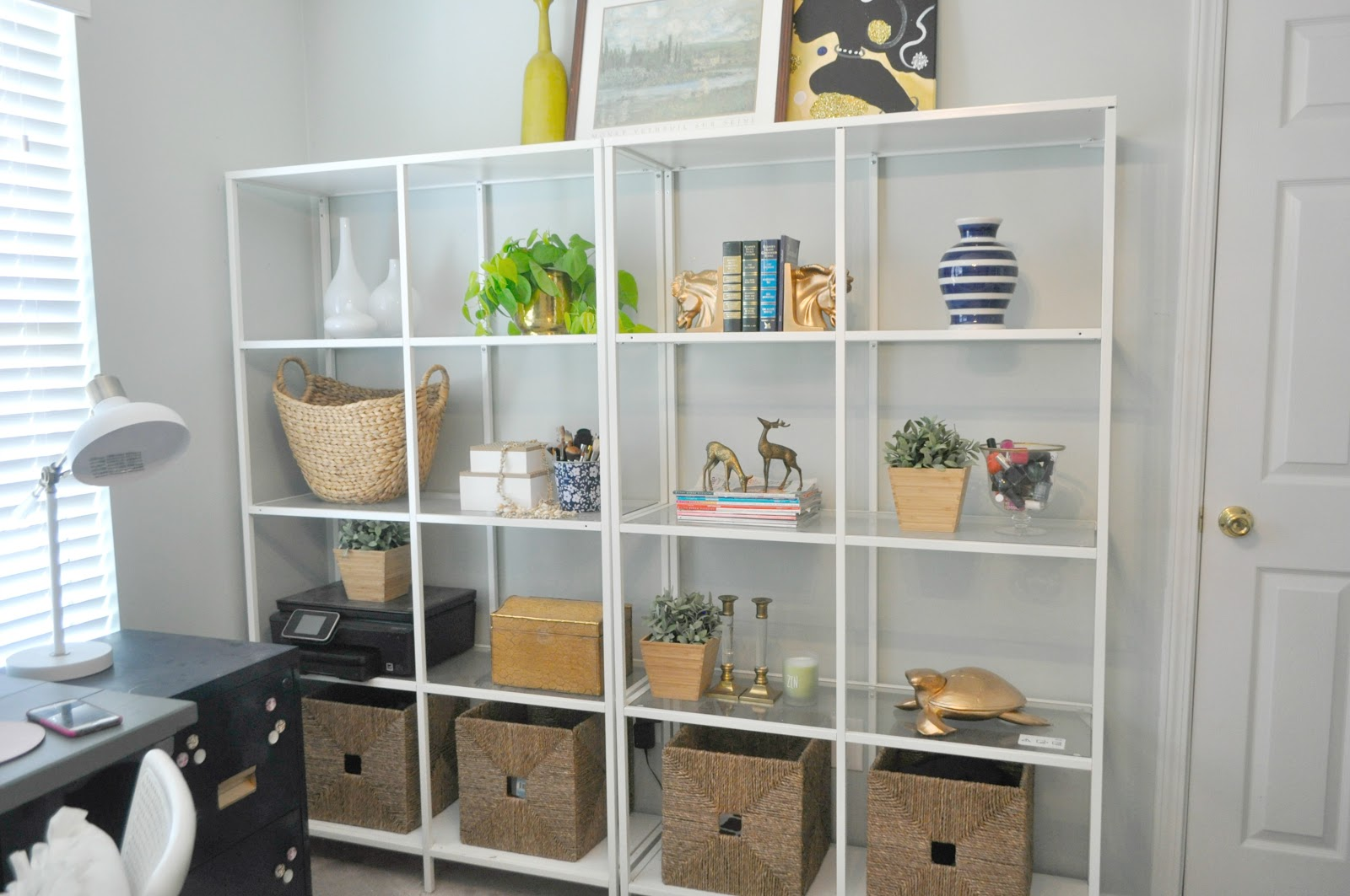 office reveal day live pretty on a penny. Black Bedroom Furniture Sets. Home Design Ideas