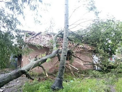 Angin Puting Beliung Hancurkan 10 Rumah di Telagasari