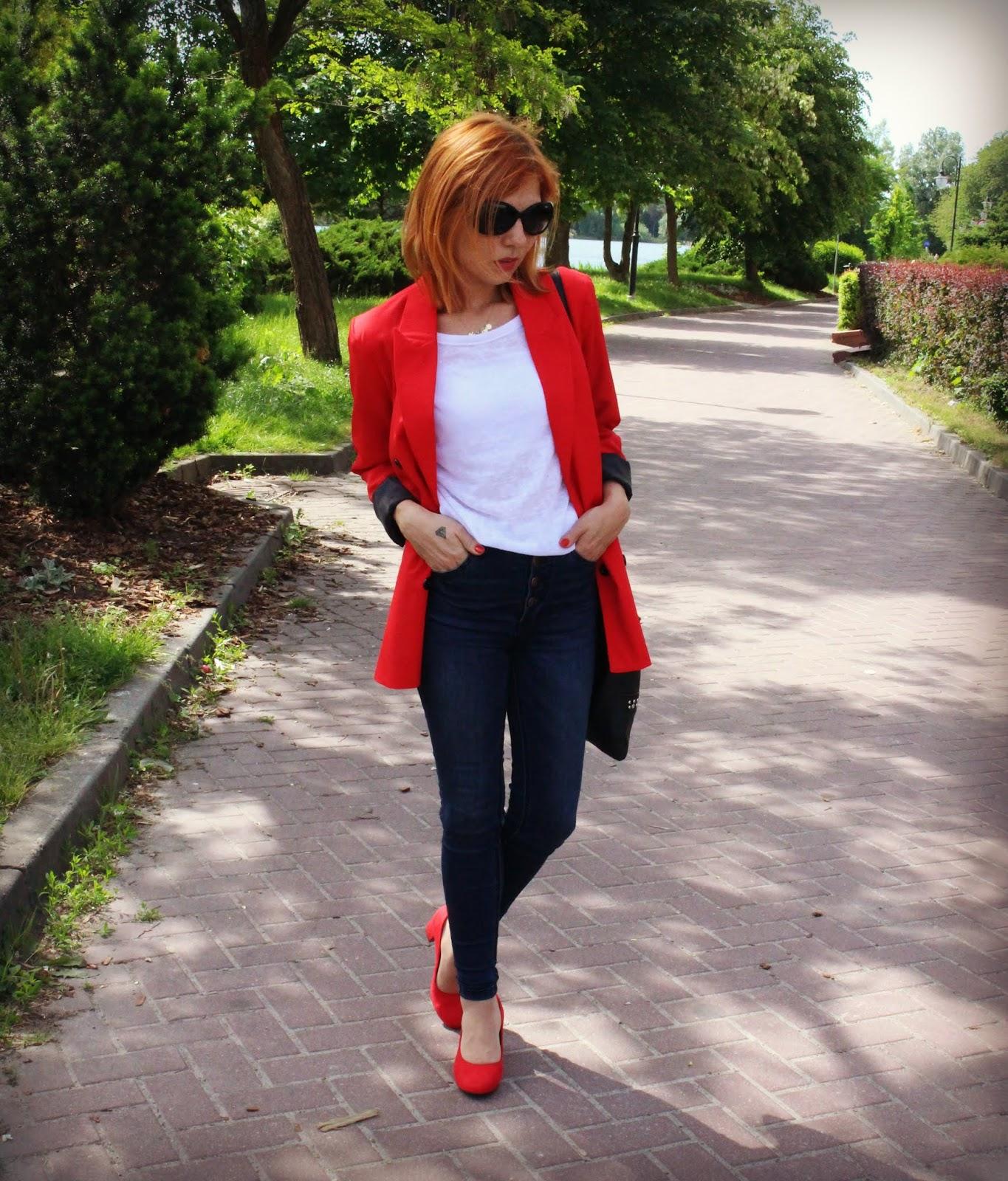 SheIn Red blazer