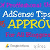 Professional Unfounded AdSense Tips