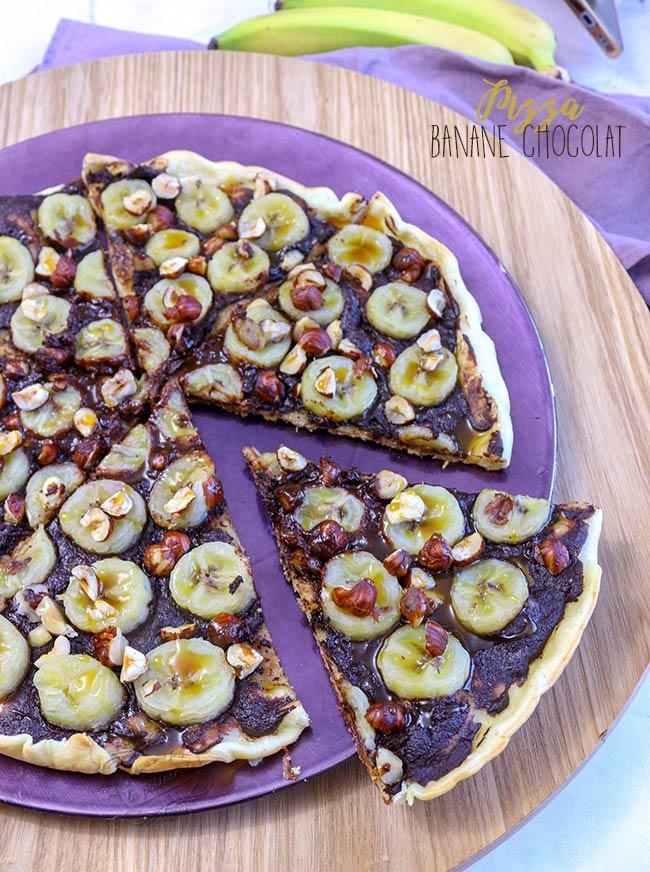 recette pizza sucrée chocolat