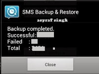 Backup and Restore SMS on Android Device.