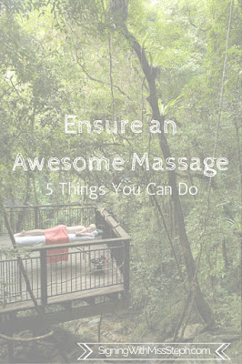 Ensure an Awesome Massage by Signing with Miss Steph