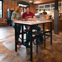 OFM Endure Series Powered Table for Break Room