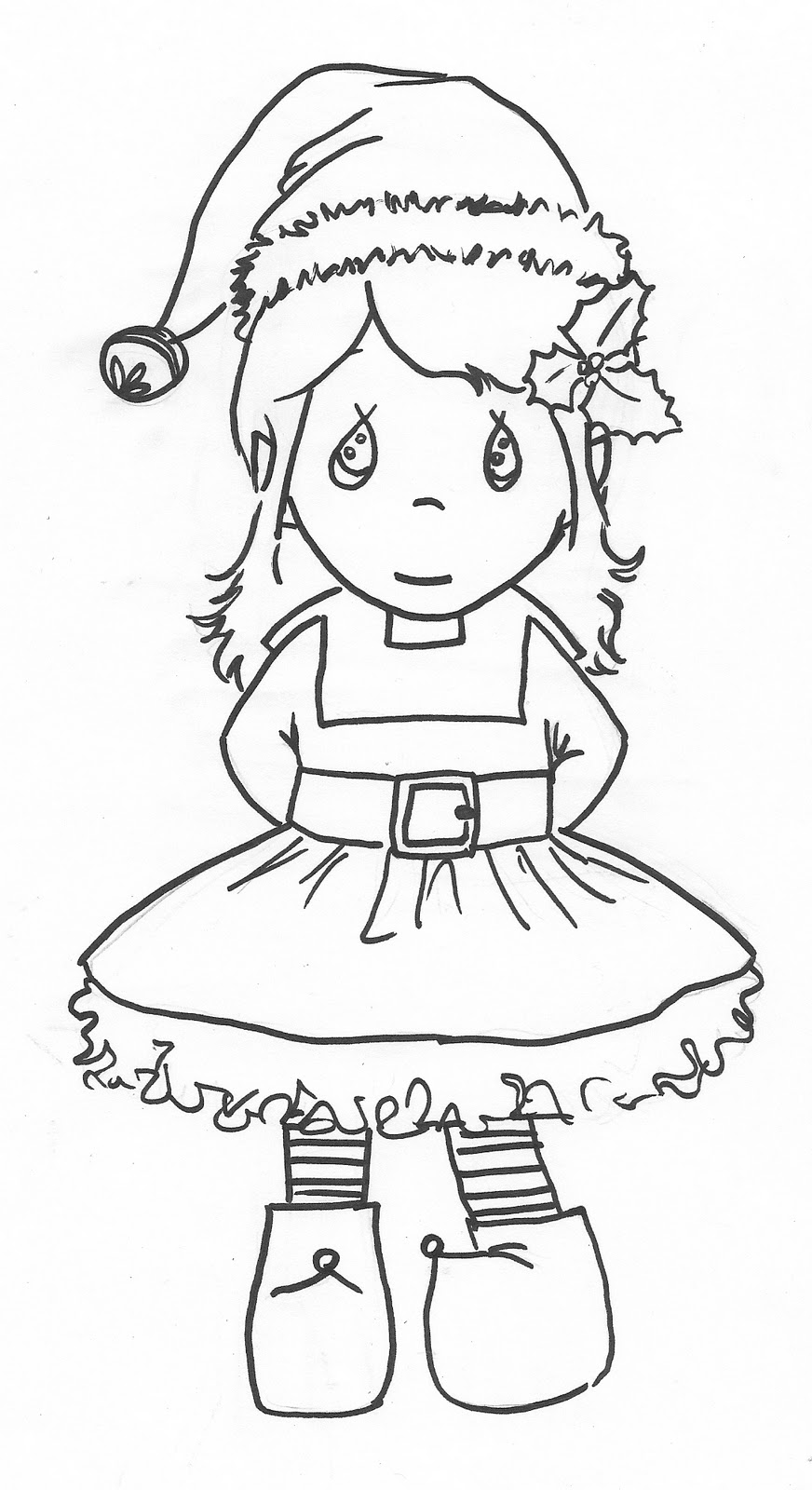 christmas coloring pages elf | Squiggle Bop: Christmas Fun--enjoy them! :)