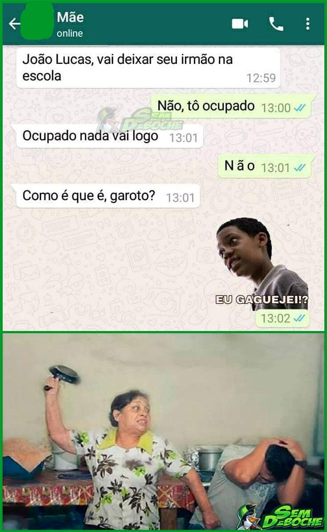 JOÃO LUCAS GOSTA DE VIVER PERIGOSAMENTE