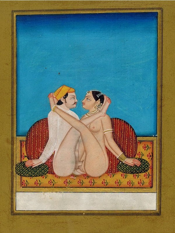 Sensuous Lovemaking Postures - Miniature Paintings, India