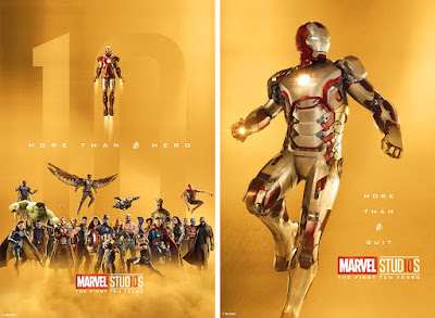 Marvel Studios: The First Ten Years Theatrical One Sheet Character Movie Poster Set