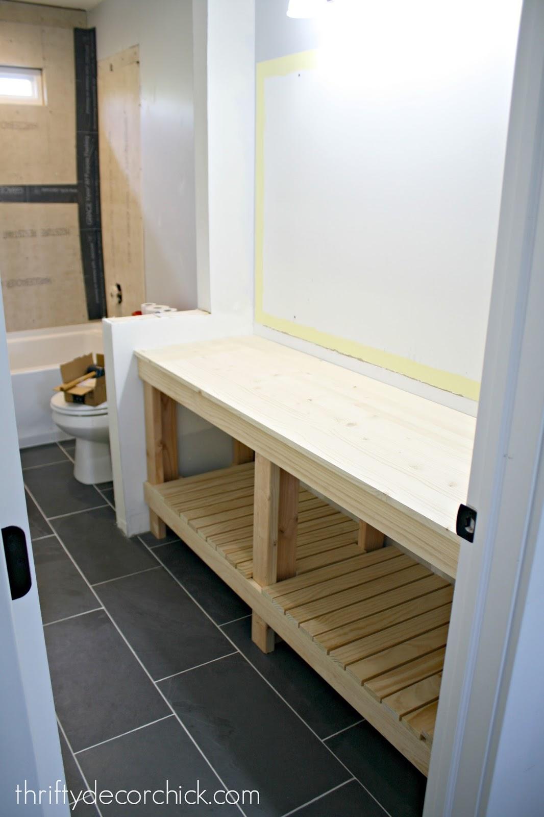 Finished DIY bathroom vanity!   WHITE HOMES
