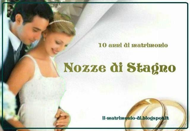Anniversario Di Matrimonio 10 Anni Colore.Il Matrimonio Di 10 Anno Di Matrimonio Nozze Di Stagno