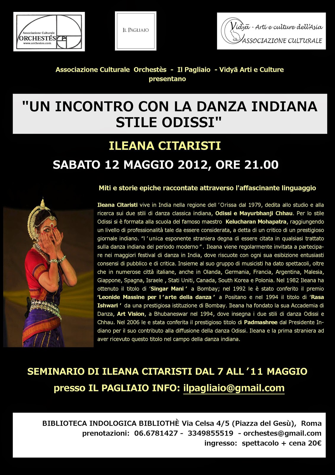 Danza Odissi a Roma Ileana Citaristi