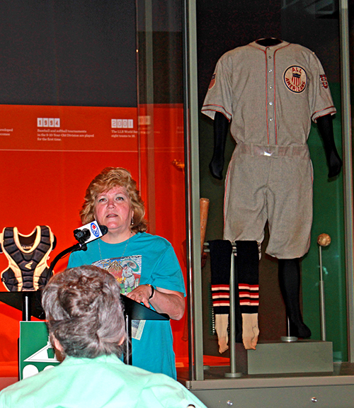 9207ba83d LITTLE LEAGUE HOSTS BABE RUTH S GRANDDAUGHTER AT NEWLY REOPENED WORLD OF LITTLE  LEAGUE®