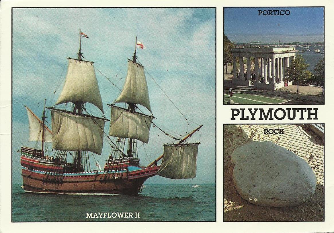 Vintage Travel Postcards Plymouth Massachusetts