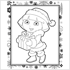 Christmas coloring pages for girl