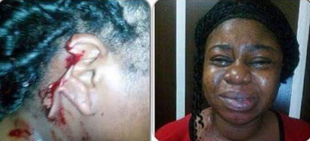 nigerian man cuts wife ear plier