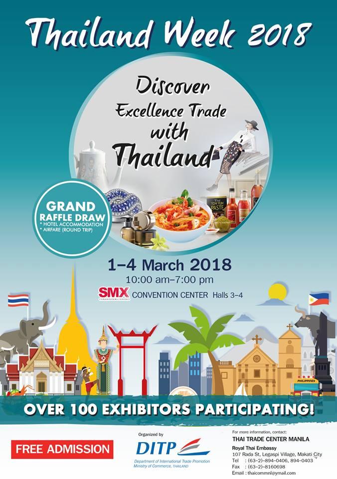 Thailand Week Thai Fashion Food And Fun: Manila Shopper: Thailand Week At SMX MOA: March 2018