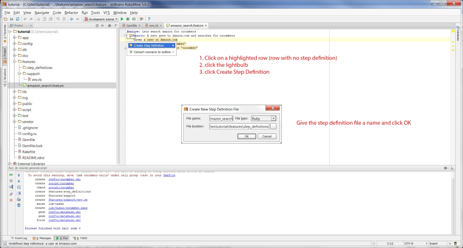 Tutorial: Up and Running with Cucumber and Watir-webdriver