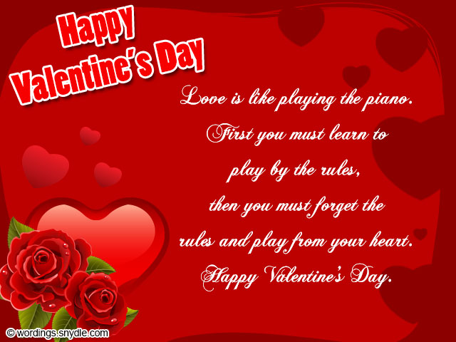 Sweet Valentines Day Greeting Messages for Wife and Girlfriend – Valentine Day Cards Messages