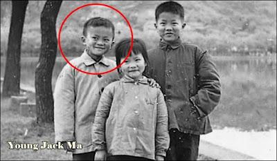Jack Ma ketika masih kecil dari keluarga sederhana