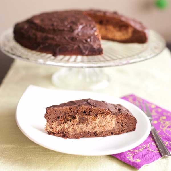 Ciasto czekoladowe ze śliwkowym kremem