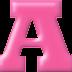 Abecedario Rosado. Pink Alphabet.