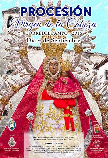 Cartel Procesión Virgen de la Cabeza Torredelcampo