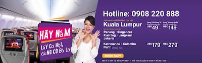Nắm lấy cơ hội bay rẻ cùng khuyến mãi của Malindo Air