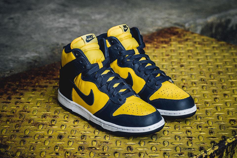 "online store 9163f c184a Kicks Flow: Nike Dunk High Retro QS ""Michigan"" - ANTLIFE ACADEMY"