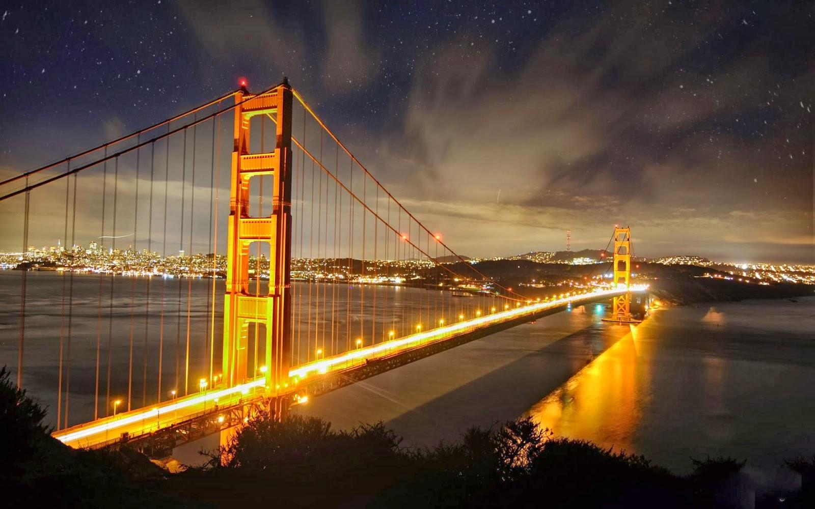 Bestwall Golden Gate Bridge Nights Wallpapers