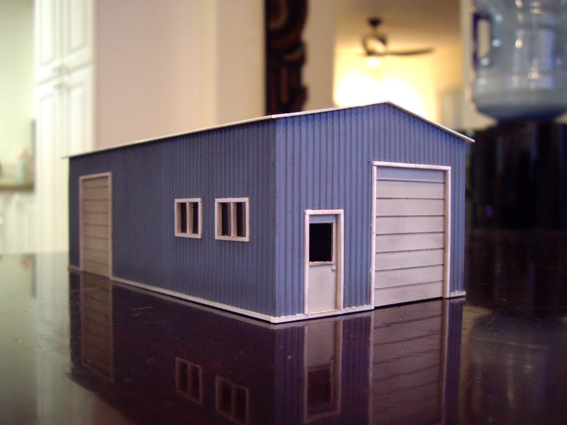Scratch-Built Garage – Bear Creek Model Railroad