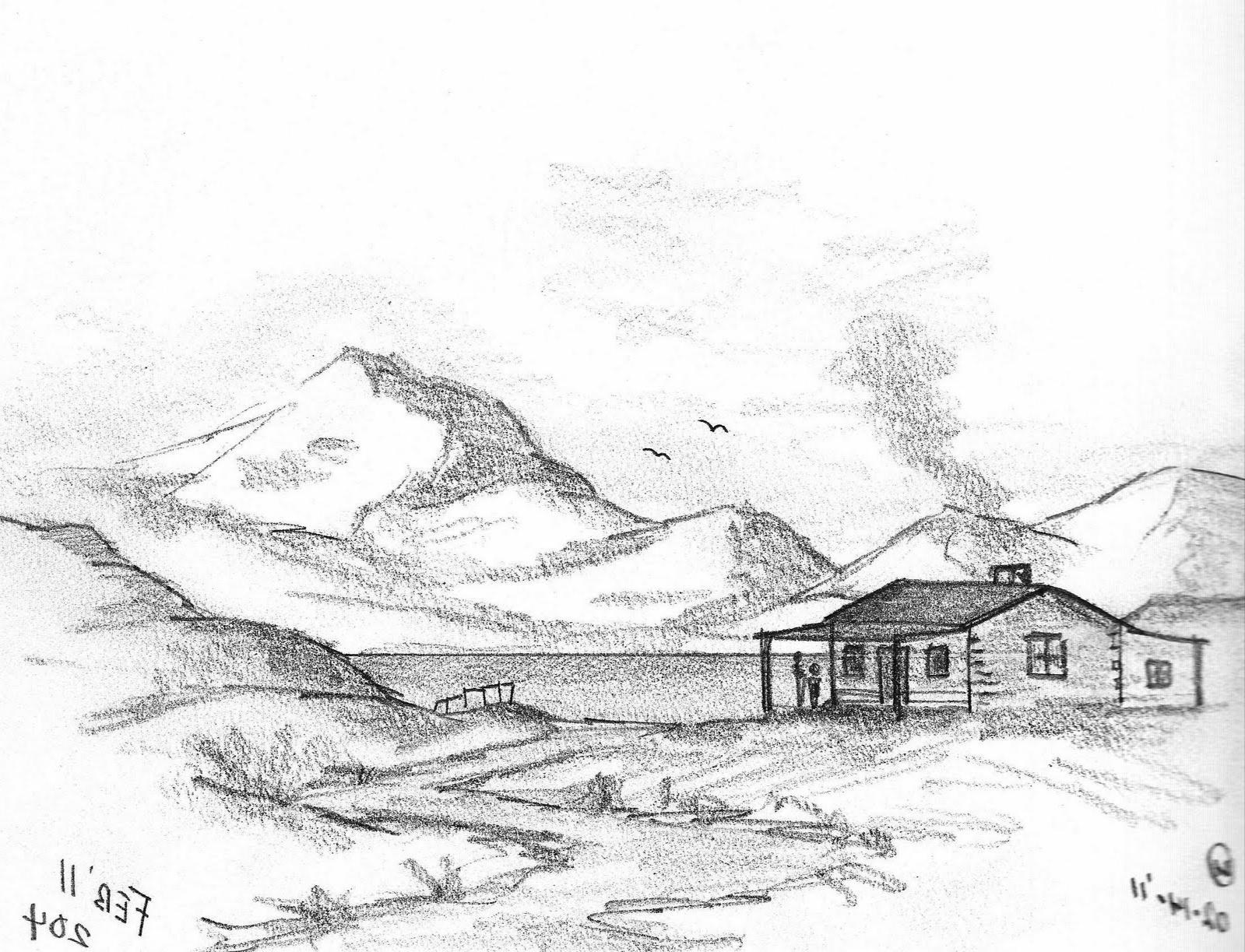 52+ Sketsa Gambar Rumah Dan Pemandangan Gratis Terbaru