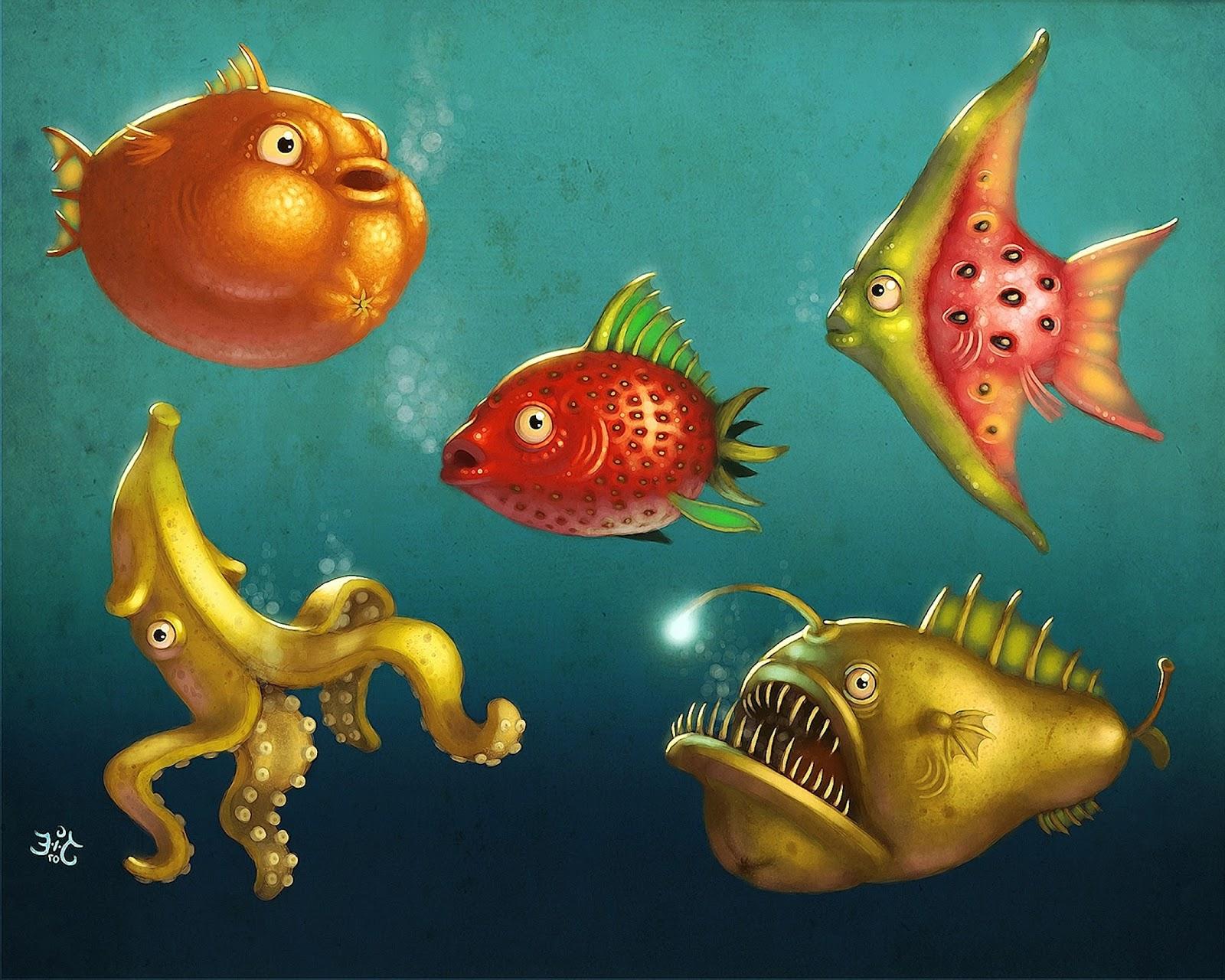8300 Gambar Hewan Laut Lucu Gratis