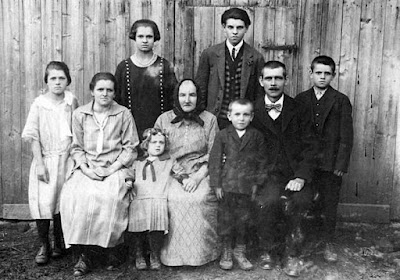 A historical photograph of a family - ancestors