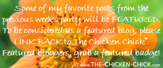Clever Chicks Blog Hop at www.The-Chicken-Chick.com