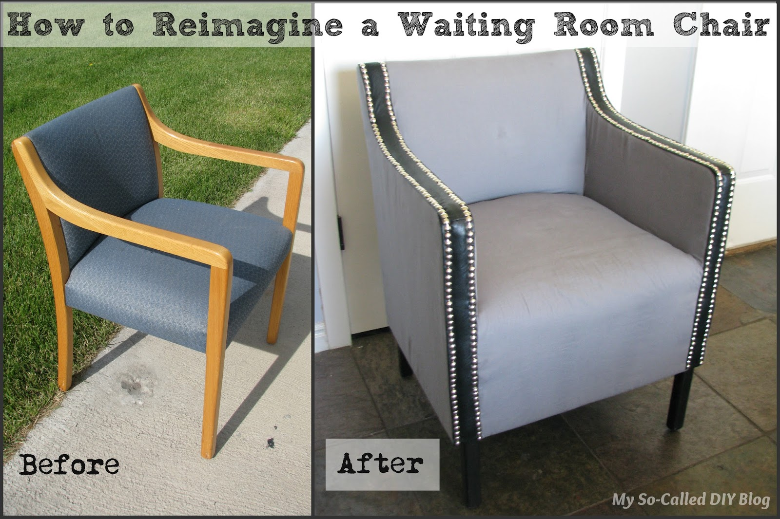 Waiting Chairs My So Called Diy Blog How To Reimagine A Waiting Room Chair