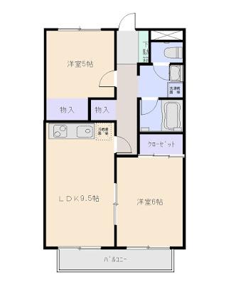 もりこビル 2LDK 増尾台3丁目