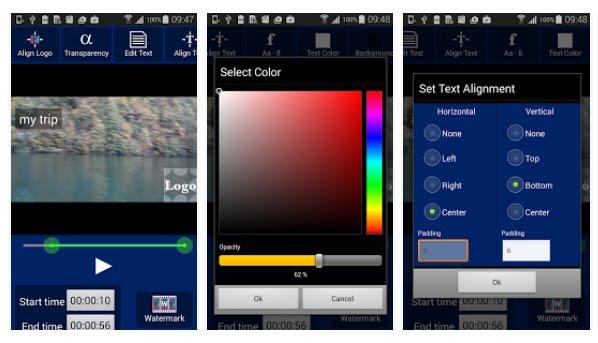 aplikasi android yang berfungsi untuk memasukan atau memberi logo (watermark) pada video menggunakan android
