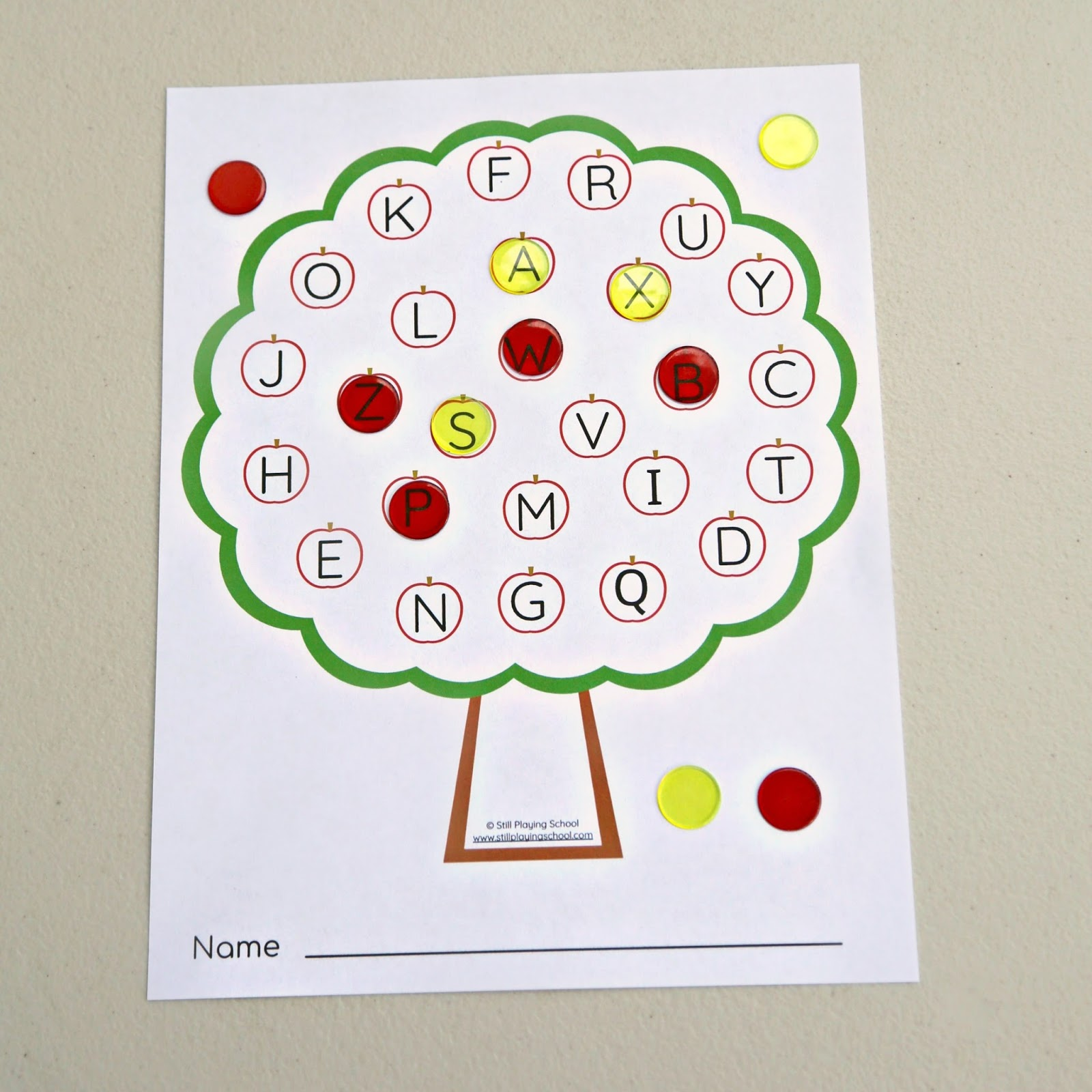 Apple Tree Alphabet Letter Game