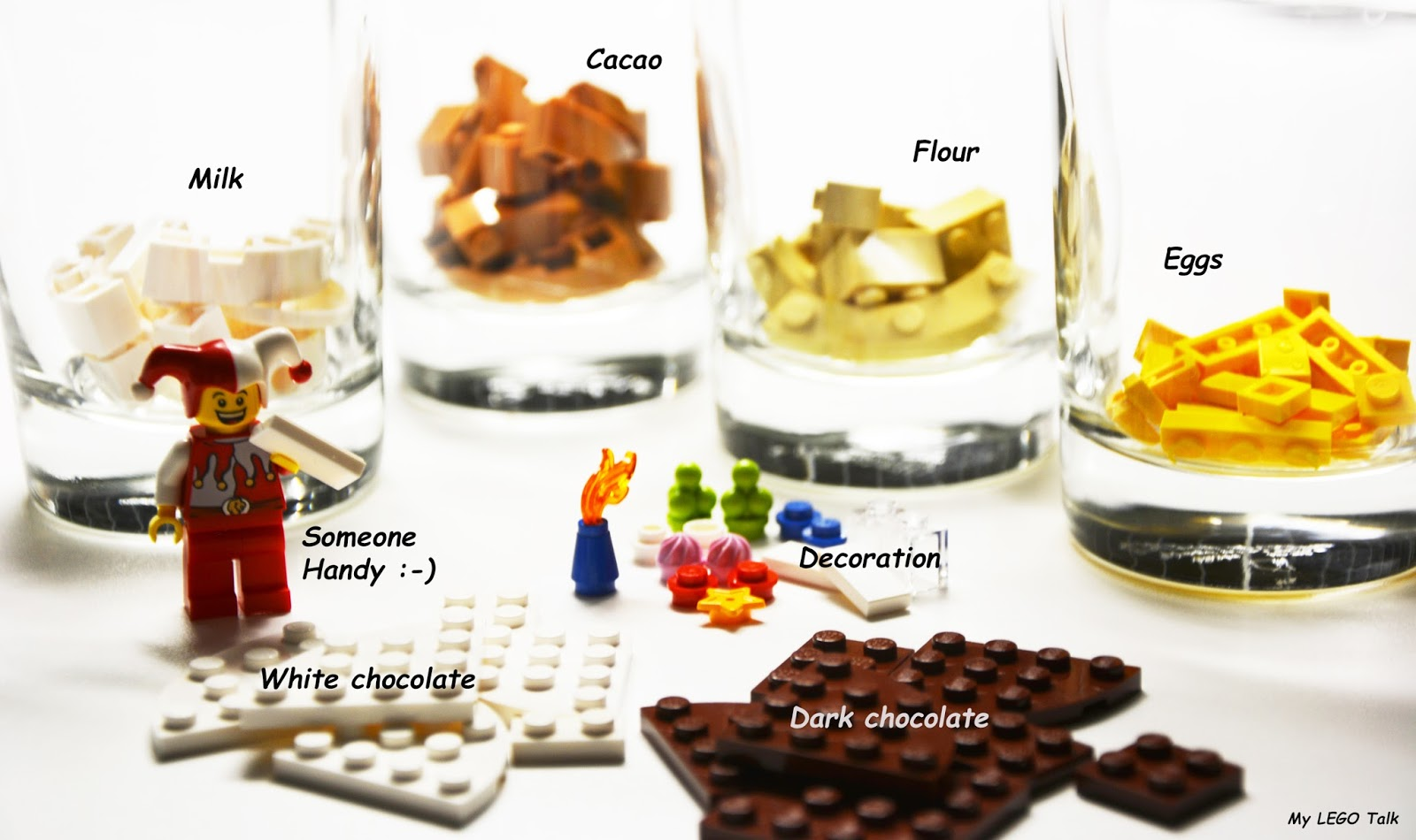 Ingredients LEGO Birthday Cake