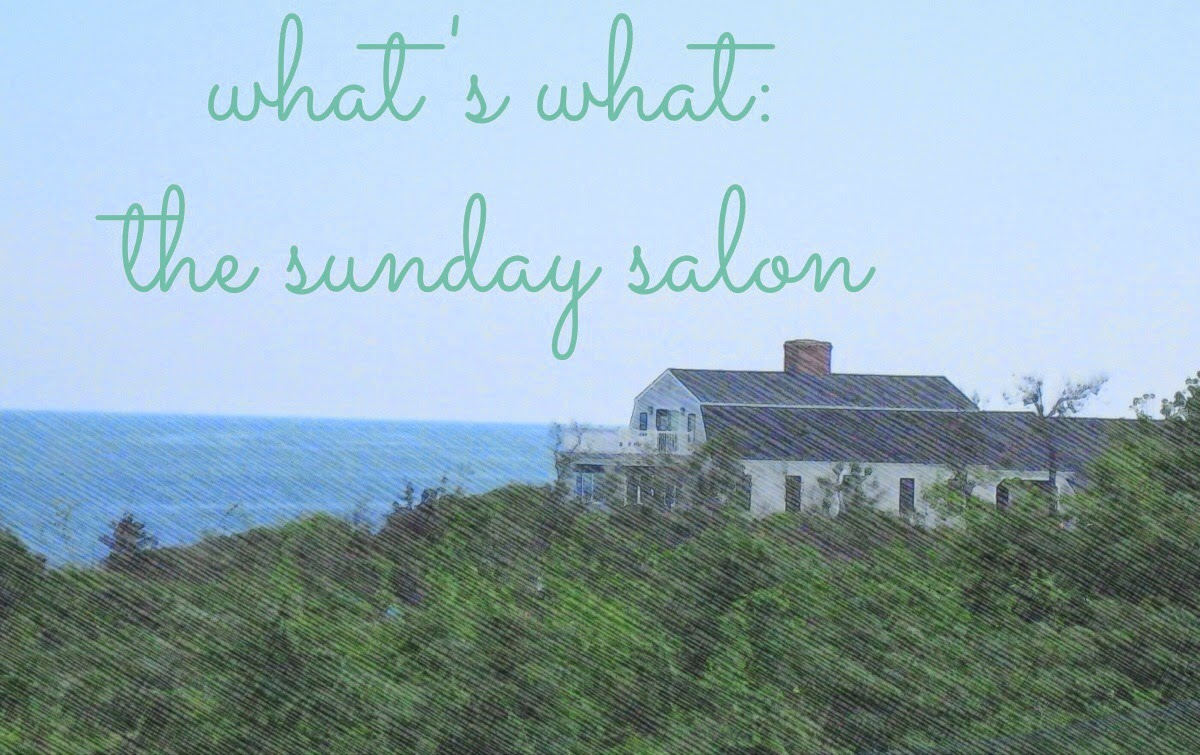 """what's what""--the Sunday Salon weekly update at The 3 R's Blog"