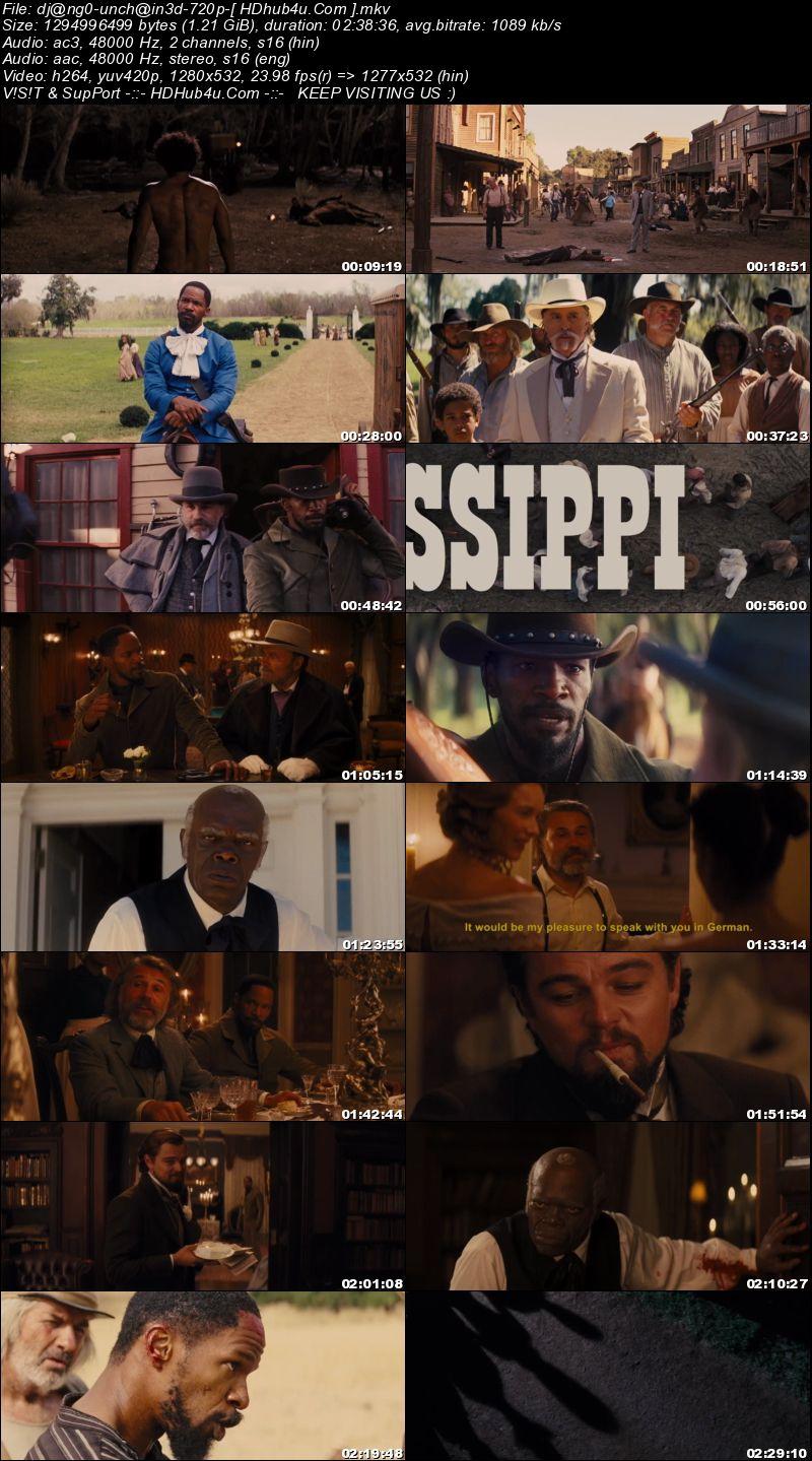 Django Unchained 2012 Hindi Dual Audio 480p BluRay 450MB Download