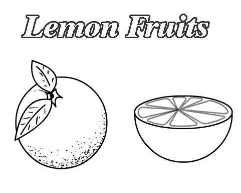 lemons fruit coloring pages to kids - Fruit Coloring Page