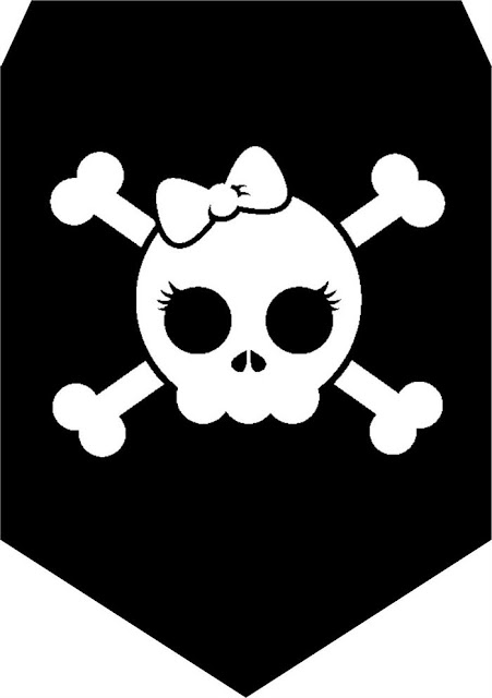 Banderines para Cumpleaños de Chica Pirata para imprimir gratis.