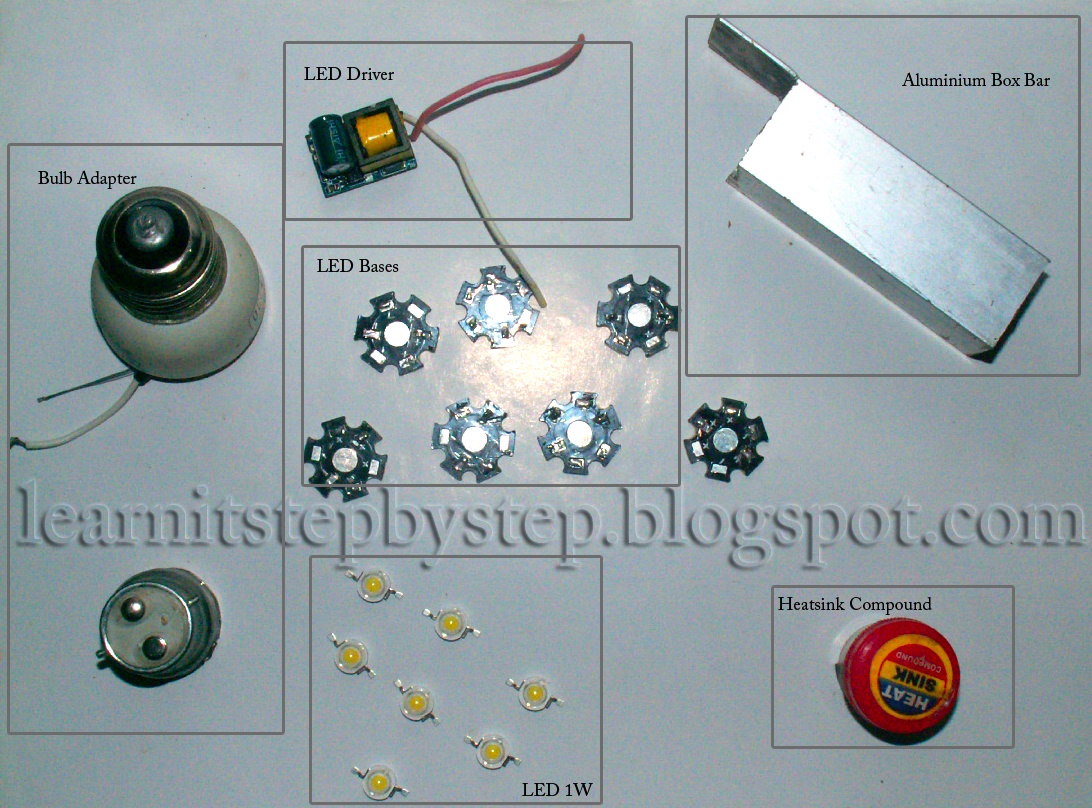 DYI Home Made LED Lamp Parts