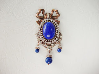 vintage style jewellery jewelry mdmButiik blue necklace