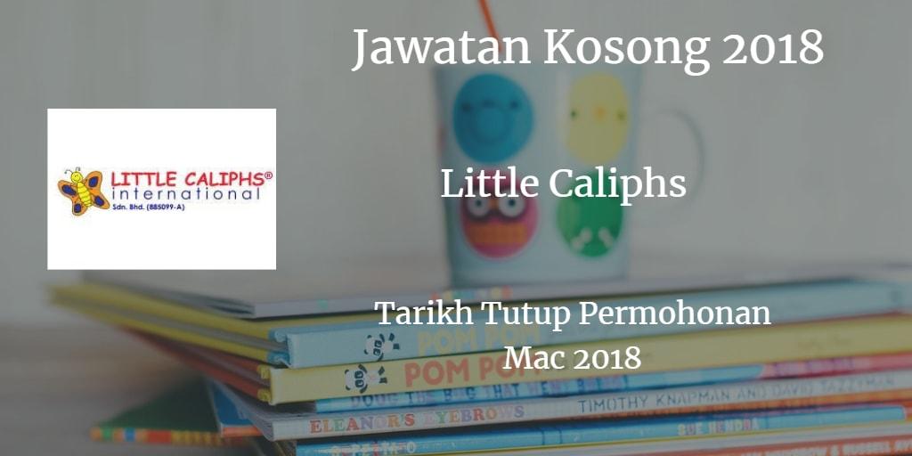 Jawatan Kosong Little Caliphs Mac 2018