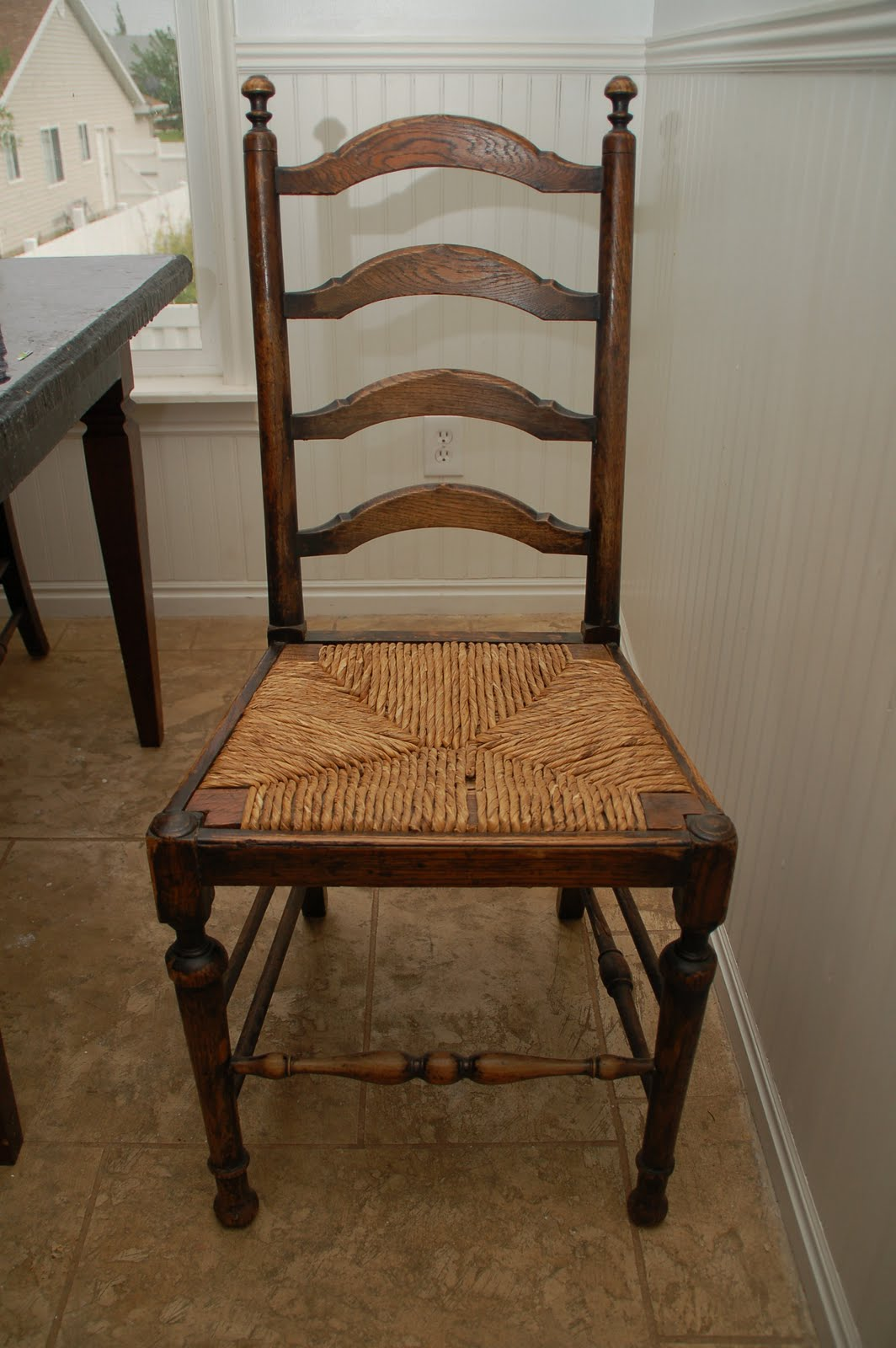 The Tomseth Family Ladder Back Straw Seat Chairs