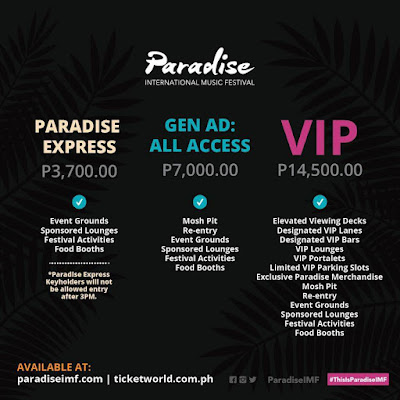 Paradise International Music Festival ticket info and pricing
